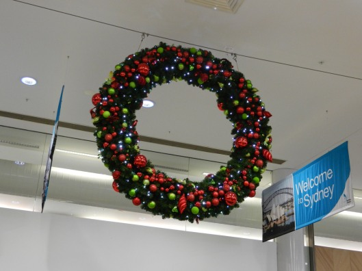A Wreath And Welcome To Sydney